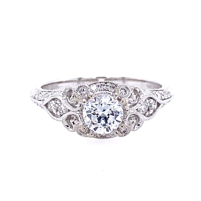 Gabriel & Co. -  IN-STORE COLLECTION Vintage Style Halo Engagement Ring