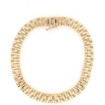 Fancy Link Gold Bracelet