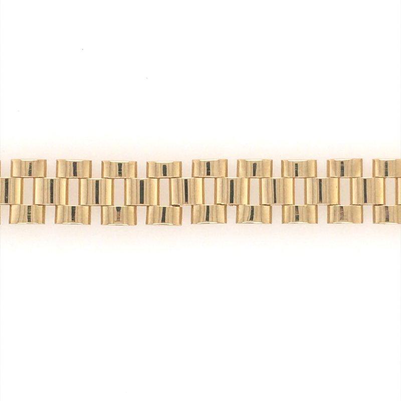 B&C Estate Collection Fancy Link Gold Bracelet