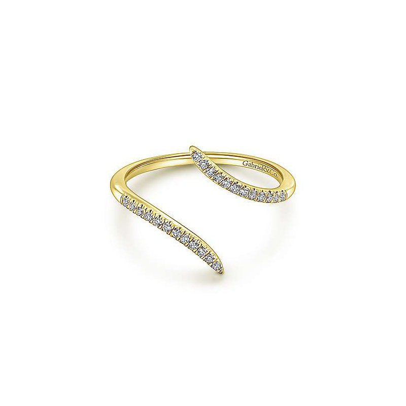 Gabriel & Co. -  IN-STORE COLLECTION Diamond Open Bypass IRng