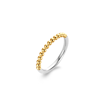 Two Tone Beaded Stackable Ring