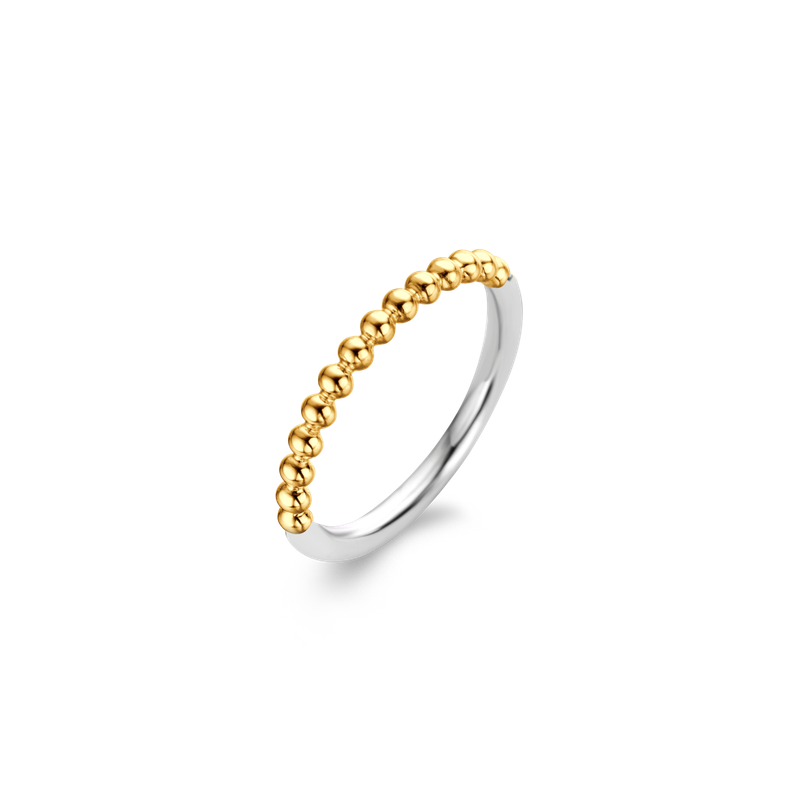 Ti Sento Two Tone Beaded Stackable Ring