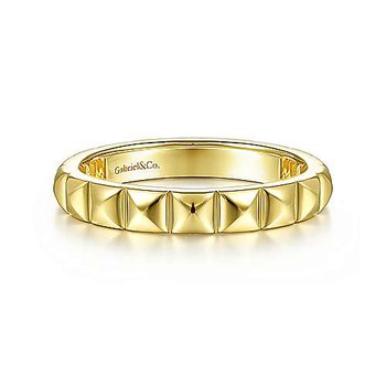 Gold Pyramid Stackable Band