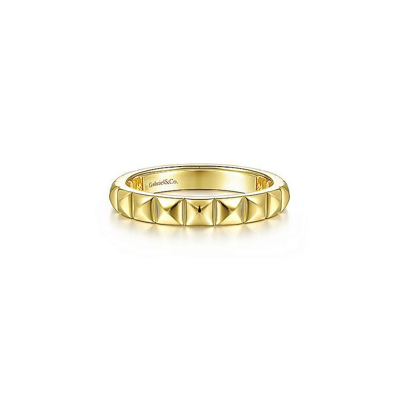 Gabriel & Co. -  IN-STORE COLLECTION Gold Pyramid Stackable Band