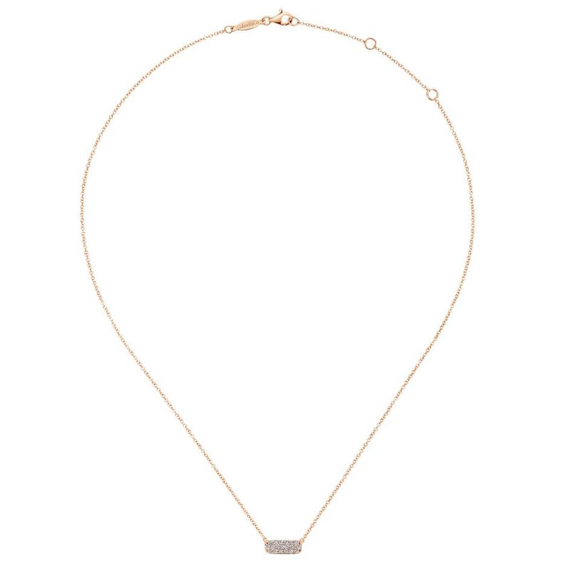 Gabriel & Co. -  IN-STORE COLLECTION Pave Bar Neckalce