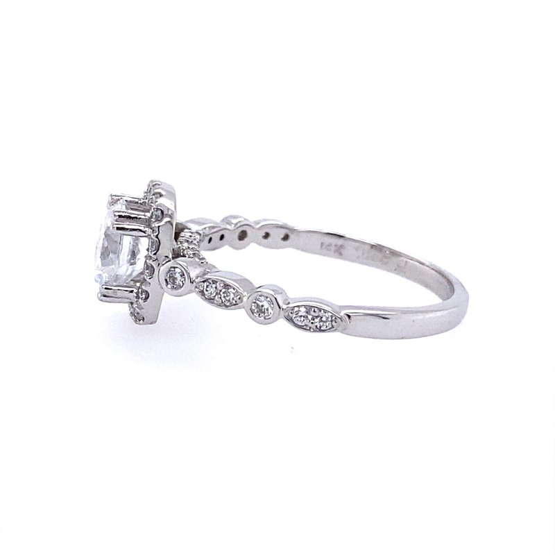 B&C Creations Halo Engagement Ring