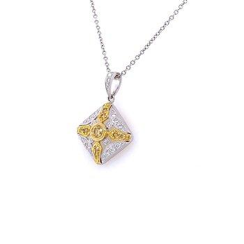Two Tone Diamond Pendant