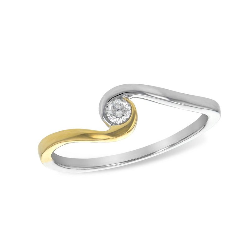 Allison Kaufman Diamond Swirl Ring
