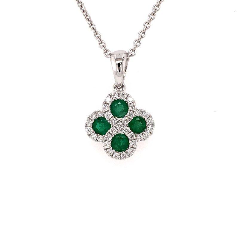 B&C Collections Emerald and Diamond Pendant