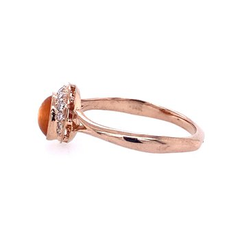 Crescent and Sunstone Ring
