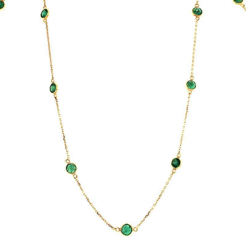 Tresor Emerald Station Necklace