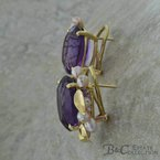 B&C Estate Collection Amethyst Earrings