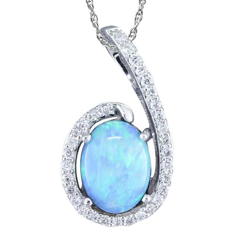 Parlé Opal and Diamond Pendant