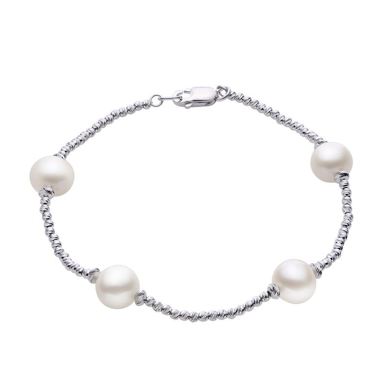 Imperial Pearl Freshwater Pear Tin Cup Bracelet