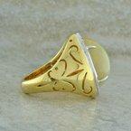Spark Creations Ethiopian Opal & Diamond Ring