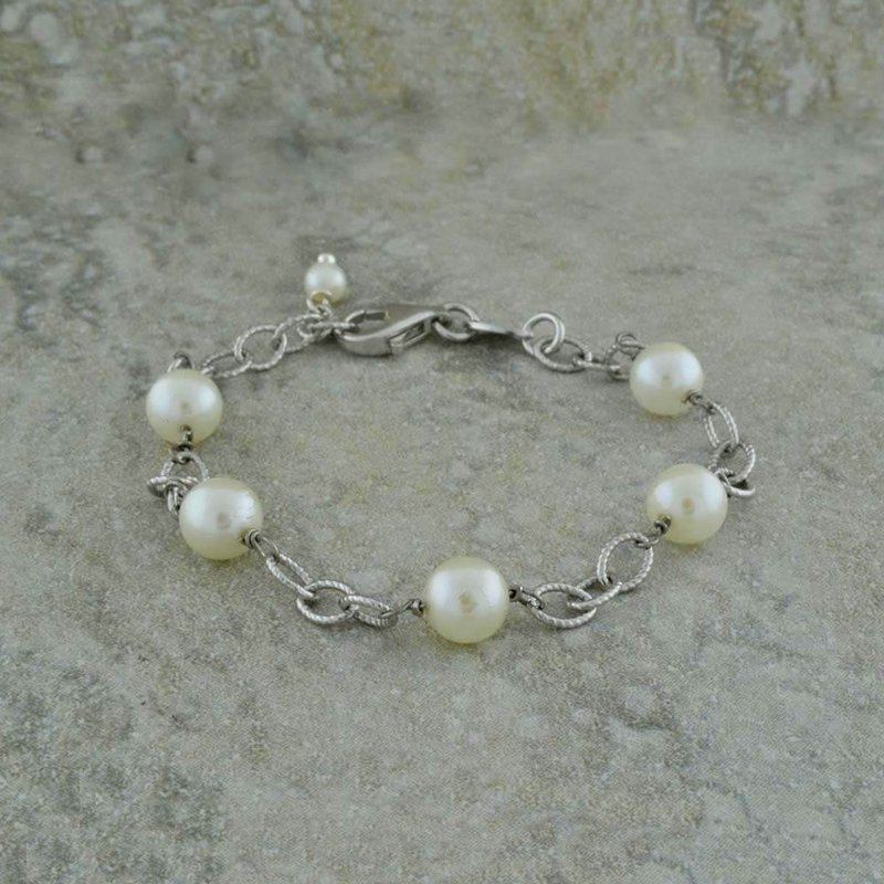 B&C Creations Child's Pearl Station Bracelet