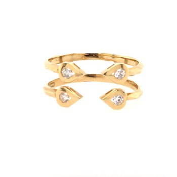 Open Geometric Two-Band Ring