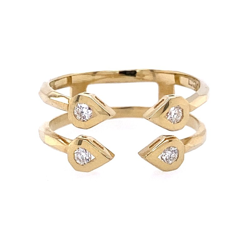 BRIAN'S VAULT Open Geometric Two-Band Ring
