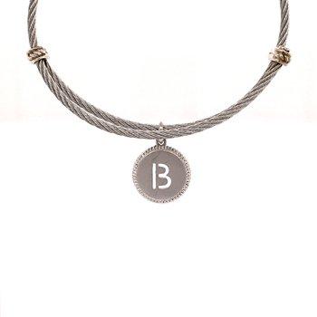 "Initial ""B"" Charm Bangle"