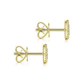 Beaded Frame Cluster Earrings