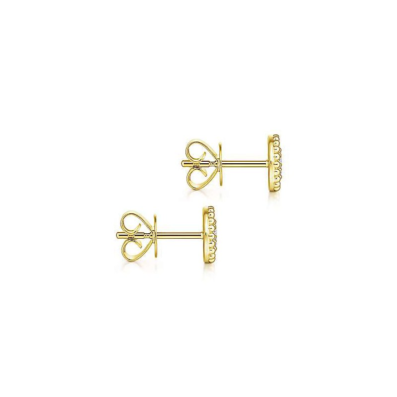 Gabriel & Co. -  IN-STORE COLLECTION Beaded Frame Cluster Earrings