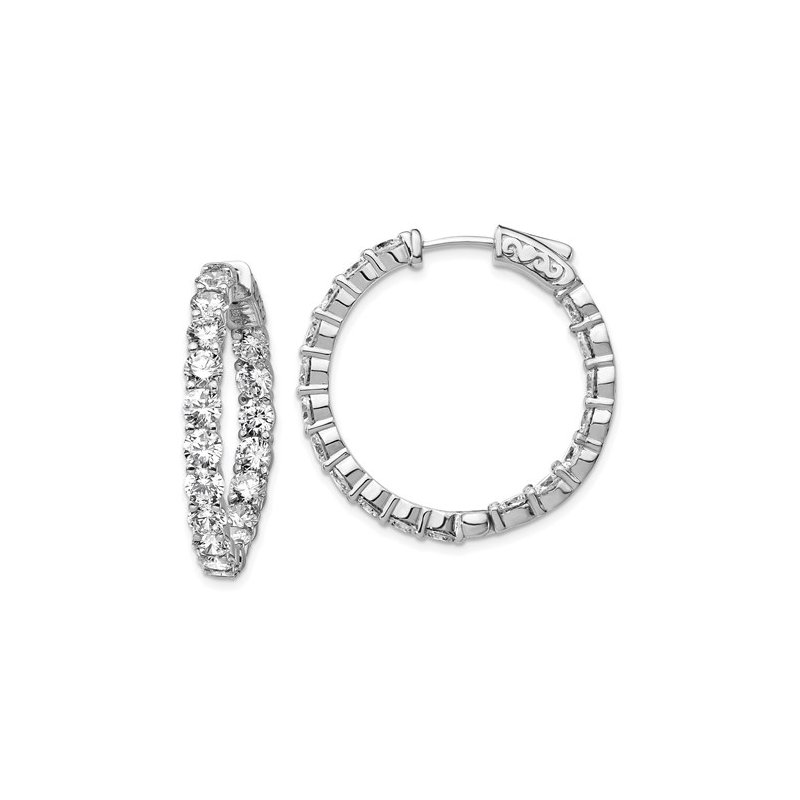 B&C Collections In and Out CZ Hoops