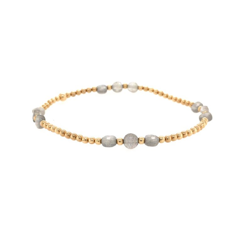 Karen Lazar 2mm Yellow Gold Filled and Labradorite Disc Bracelet