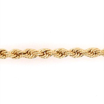 Yellow Gold Rope Bracelet