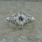 B&C Estate Collection Vintage Inspired Engagement Ring