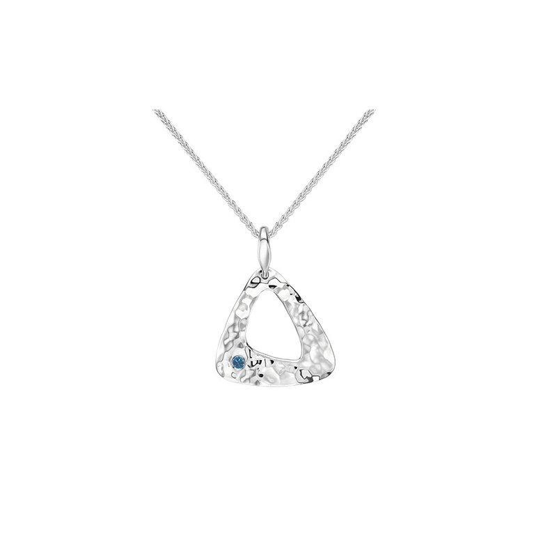 E. L. Designs IN-STORE Collection S/S Blue Diamond Trillium Pendant