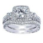 Gabriel & Co. - Bridal Square Halo Engagement Ring