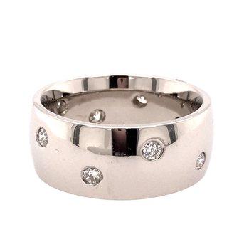Custom Wide Diamond Band
