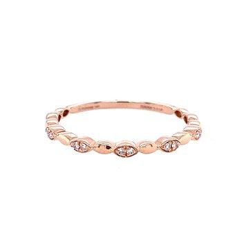 Diamond Wedding Band in 14K Rose Gold