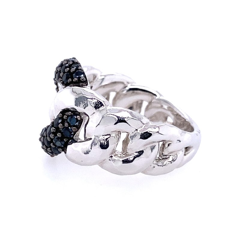 Gabriel & Co. -  IN-STORE COLLECTION Black Spinel Chain Link Ring