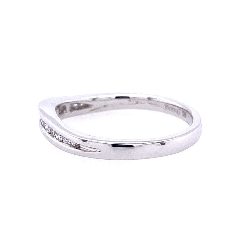 Simon G IN-STORE COLLECTION White Gold Channel Set Curved Diamond Band