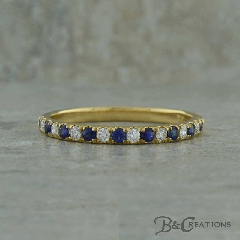 B&C Creations Sapphire and Diamond Band