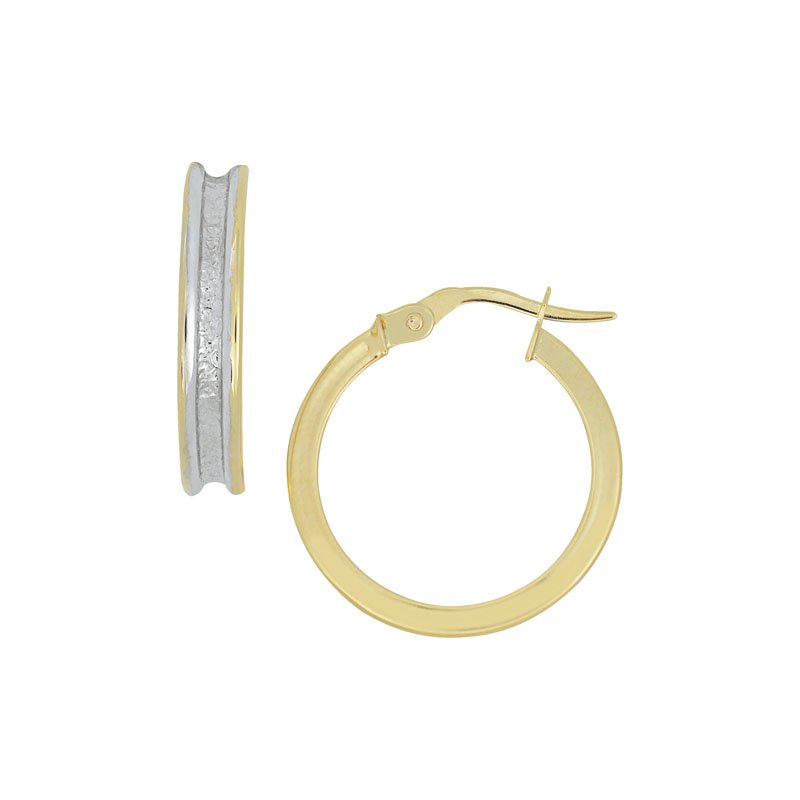 B&C Collections Two Tone Textured Hoops