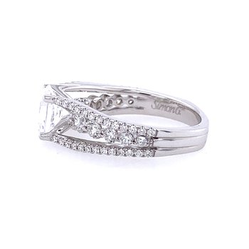 White Gold Oval Engagement Ring