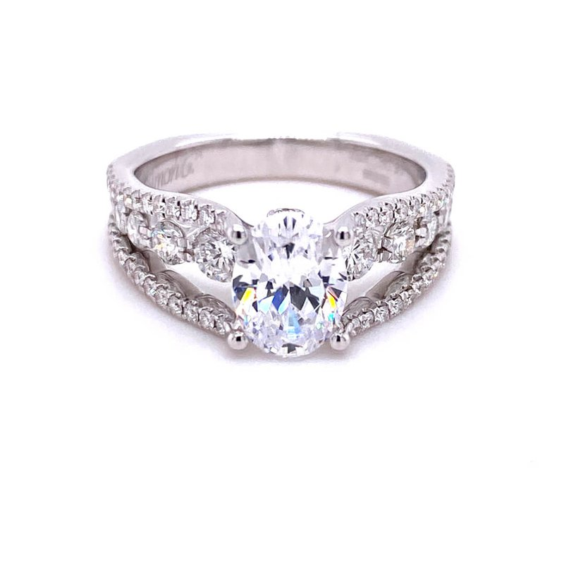 Simon G IN-STORE COLLECTION White Gold Oval Engagement Ring