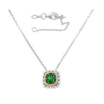 Emerald Textured Pendant