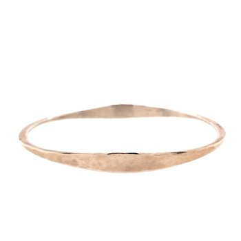 Hammered Oval Bangle