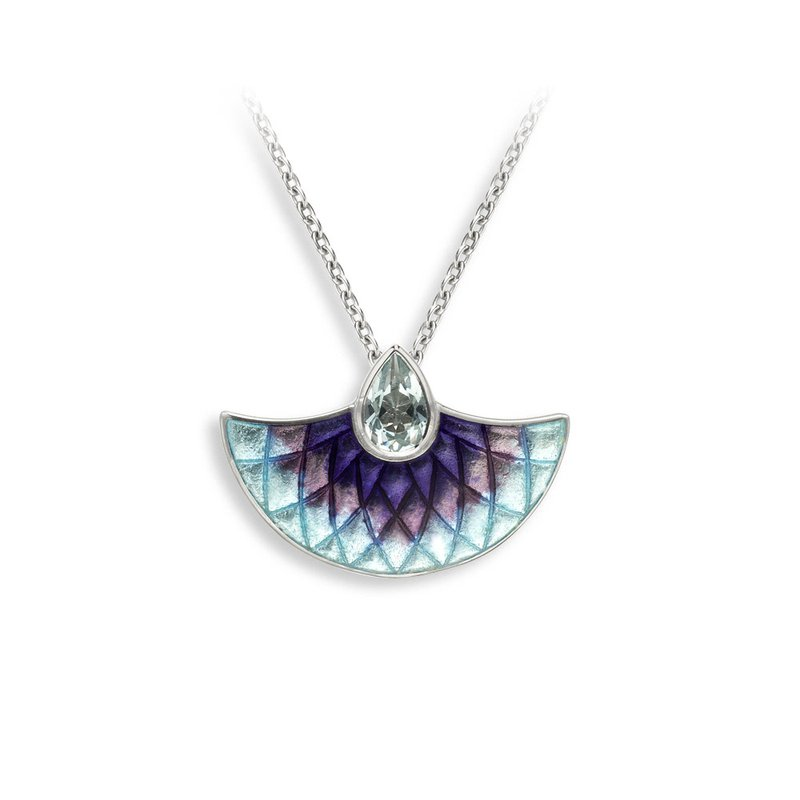 Nicole Barr Designs IN-STORE Collection Purple and Blue Fan Necklace