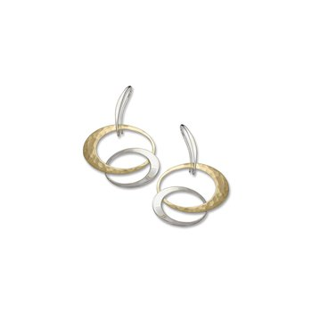 S/S and 14K Yellow Gold Entwined Elegance Earrings