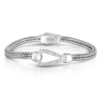 White Sapphire Buckle Bracelet