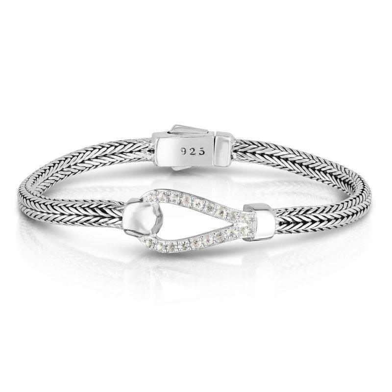 Phillip Gavriel White Sapphire Buckle Bracelet