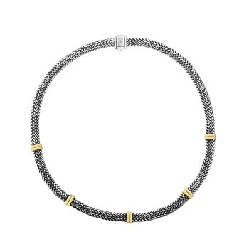 Flat Woven Station Necklace