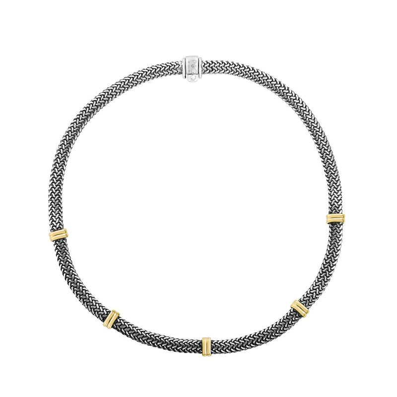Phillip Gavriel Flat Woven Station Necklace