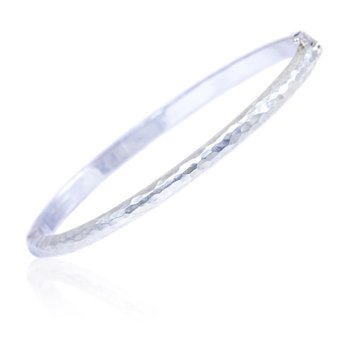 Plain Hammered Bangle