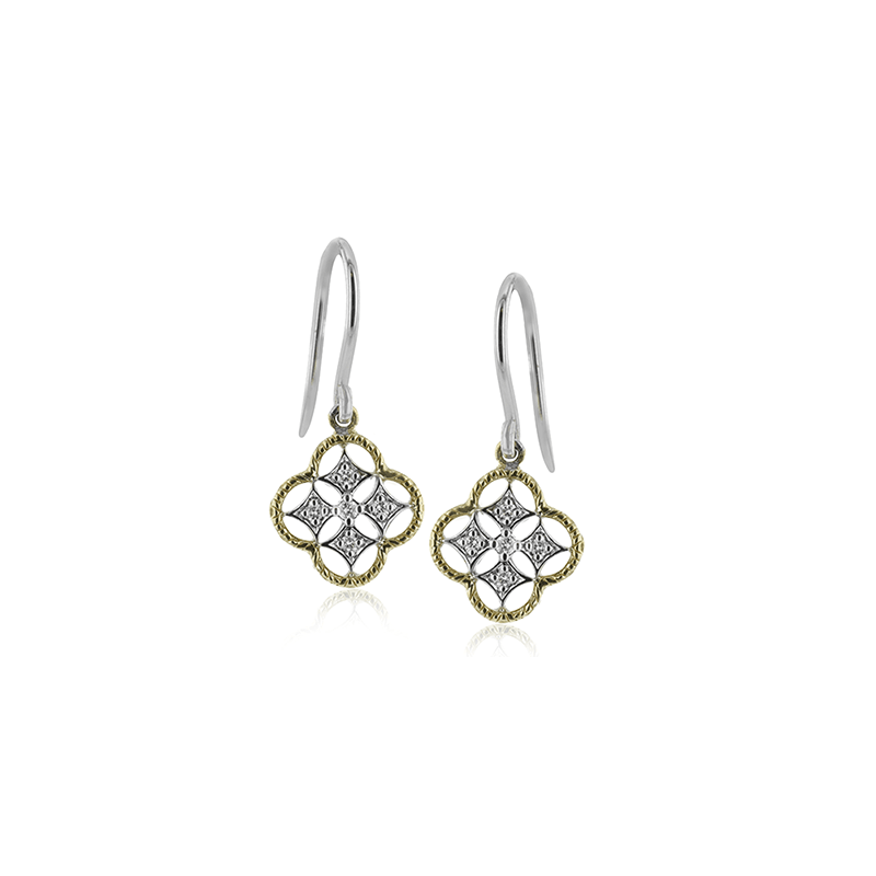 Simon G IN-STORE COLLECTION Diamond Trellis Earrings