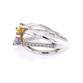 Freeform Three Stone Mother's Ring